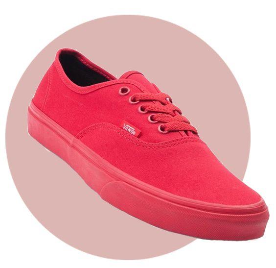 Rode vans schoen